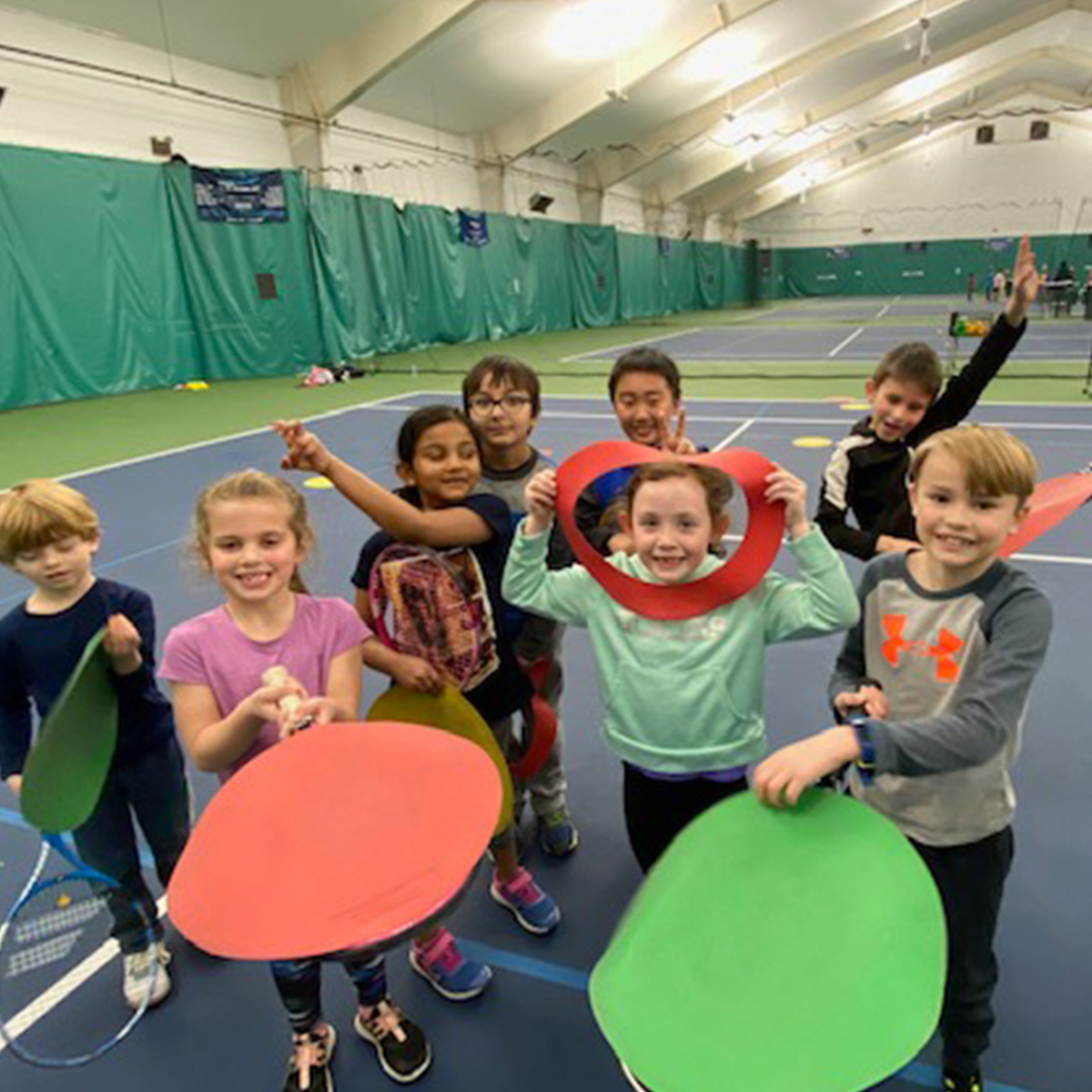Kids tennis at Kinetix is fun